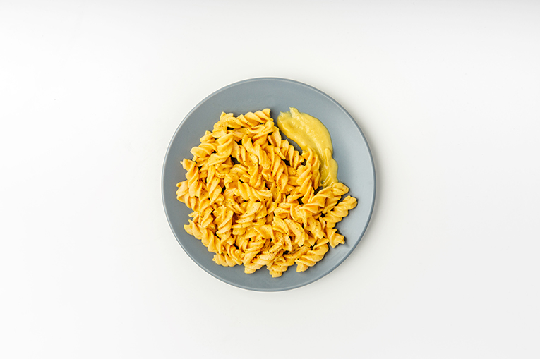 Red Lentil Cheesy Pasta - A recipe created using more than one product