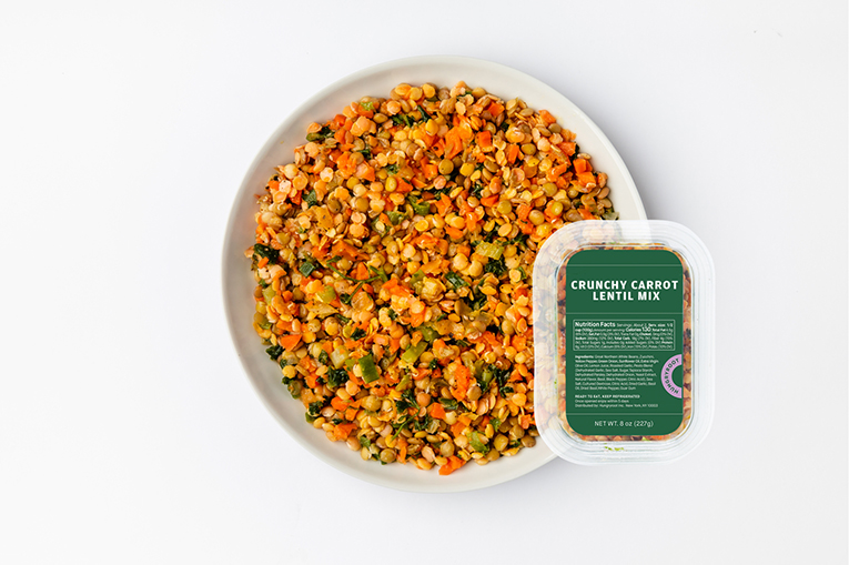Crunchy Carrot Lentil Mix, a product in the Proteins category