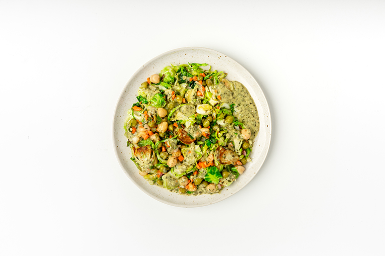 Kale Pesto Chickpea Brussels - A recipe created using more than one product
