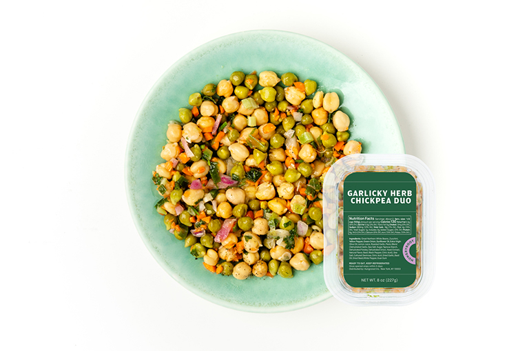 Garlicky Herb Chickpea Duo, a product in the Proteins category