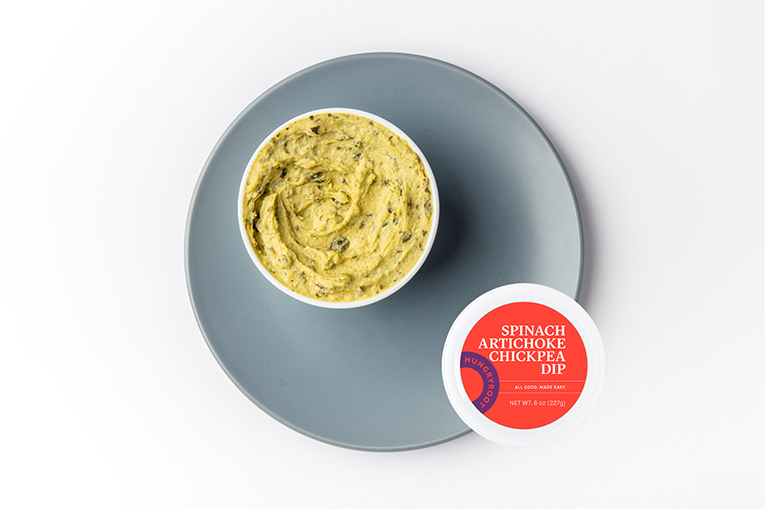Spinach Artichoke Chickpea Dip, a product in the Sauces category