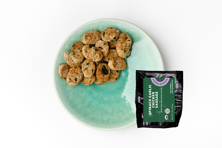 Spinach Garlic Chicken Sausage, a product in the Proteins category