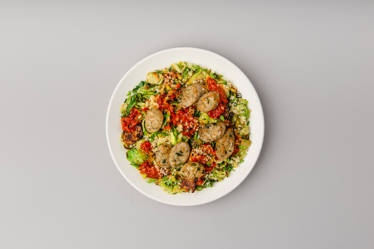 Red Pepper Chicken Brussels - A recipe created using more than one product