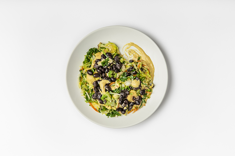 Black Bean Cheesy Greens - A recipe created using more than one product