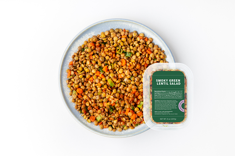 Smoky Green Lentil Salad, a product in the Proteins category