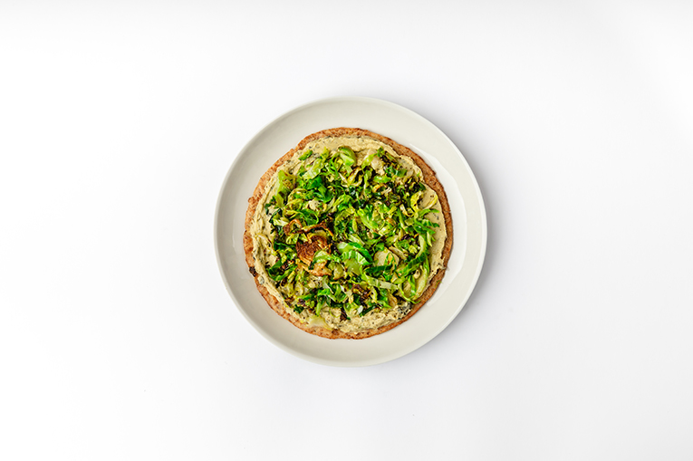 Caramelized Brussels Artichoke Flatbread - A recipe created using more than one product