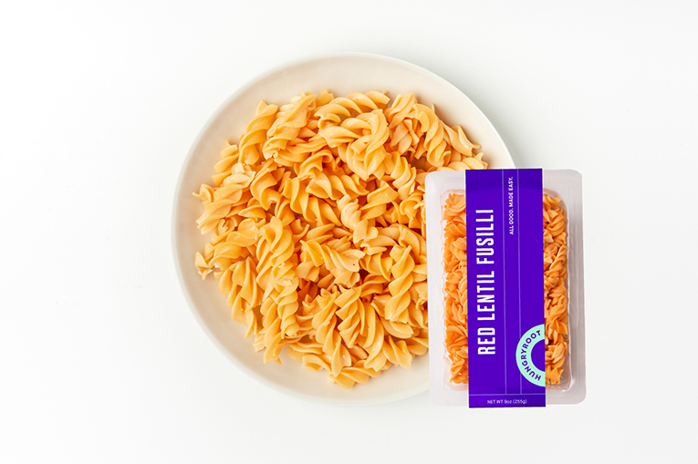 Red Lentil Fusilli, a product in the Grains & Pastas category
