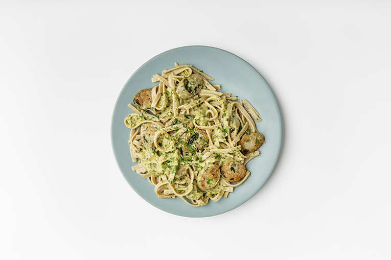 Chicken Sausage Pesto Linguini - A recipe created using more than one product