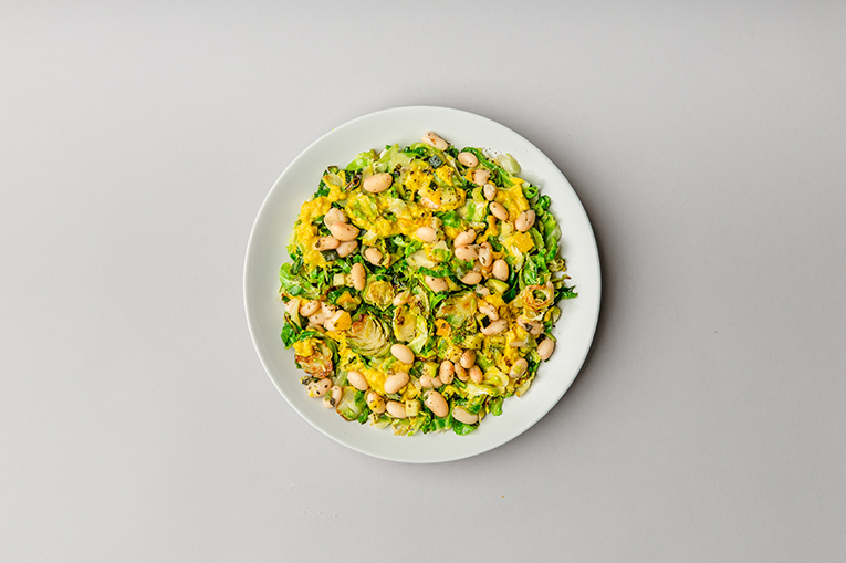 White Bean Curried Brussels - A recipe created using more than one product