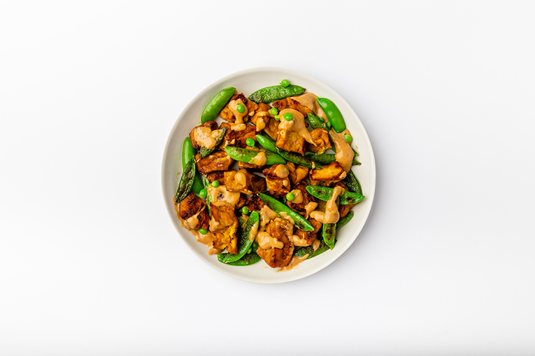 Baked Peanut General Tso's Tofu - A recipe created using more than one product