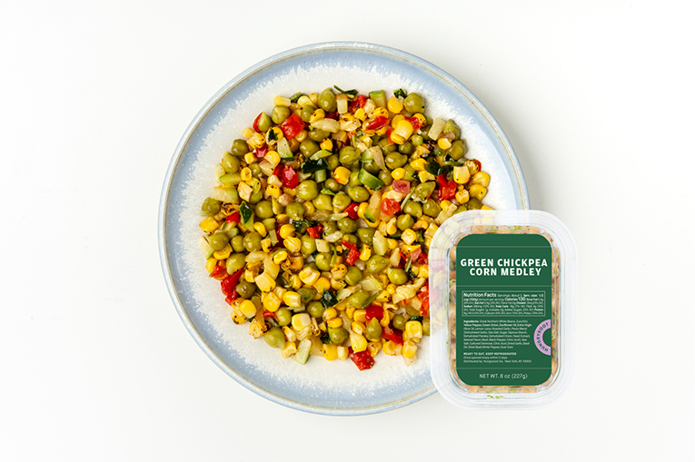 Green Chickpea Corn Medley, a product in the Proteins category