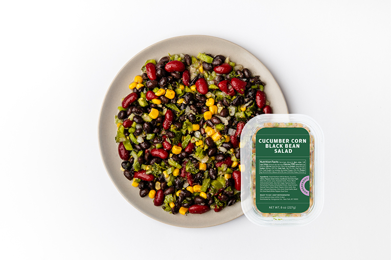 Cucumber Corn Black Bean Salad, a product in the Proteins category