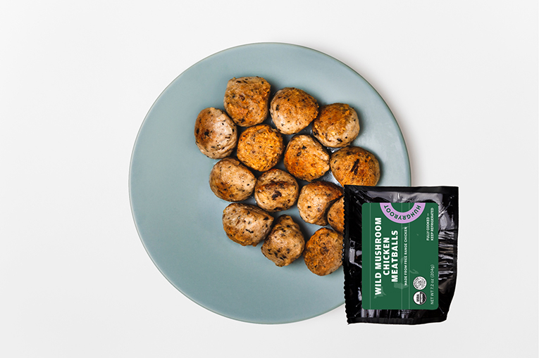 Wild Mushroom Chicken Meatballs, a product in the Proteins category